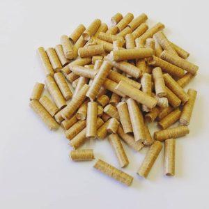 燃料や猫砂に! 木頭杉・桧の木質ペレット